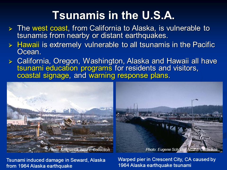 Tsunamis in the U.S.A.