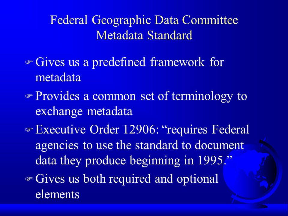 What are Metadata.