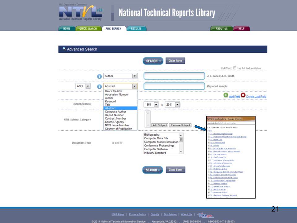 www.ntis.gov 21