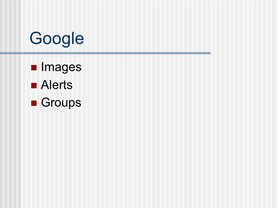 Google Images Alerts Groups