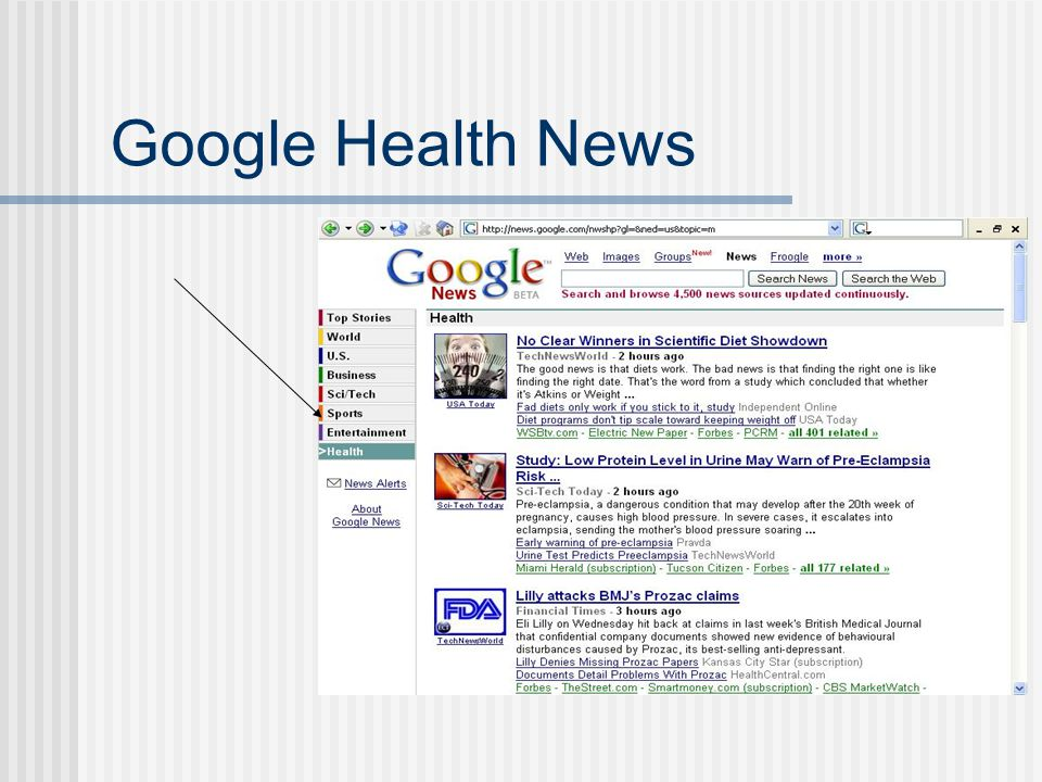 Google Health News