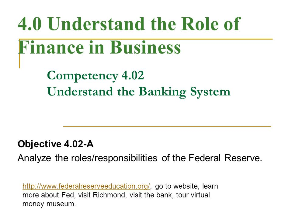 The Federal Reserve System What is the Federal Reserve System.