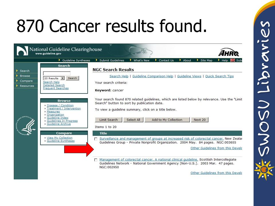870 Cancer results found.