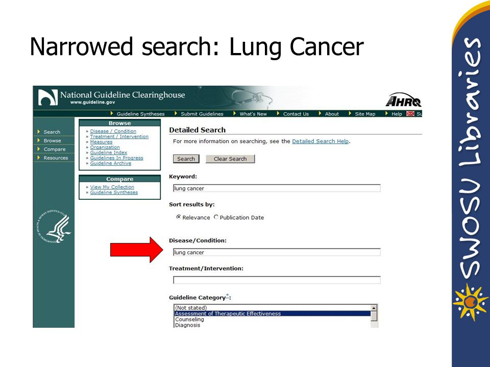 Narrowed search: Lung Cancer