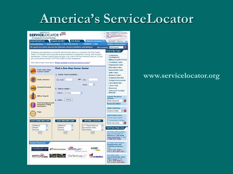 America's ServiceLocator www.servicelocator.org