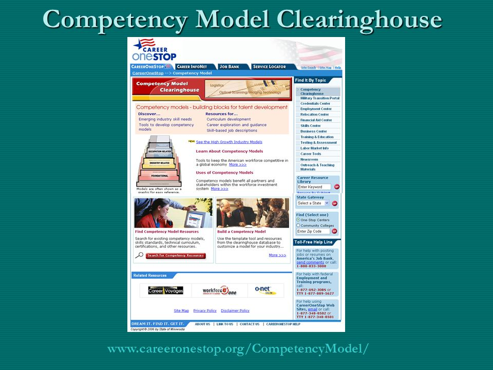 Competency Model Clearinghouse www.careeronestop.org/CompetencyModel/