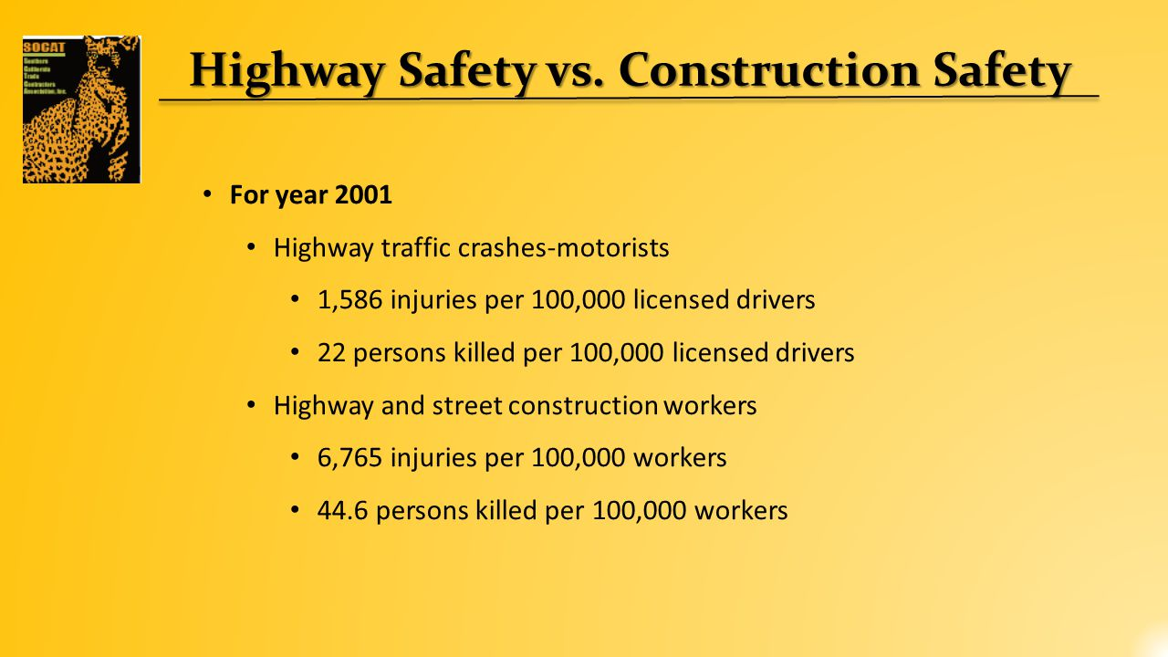 National Work Zone Traffic Crash Trends *Source: Fatal Accident Reporting System