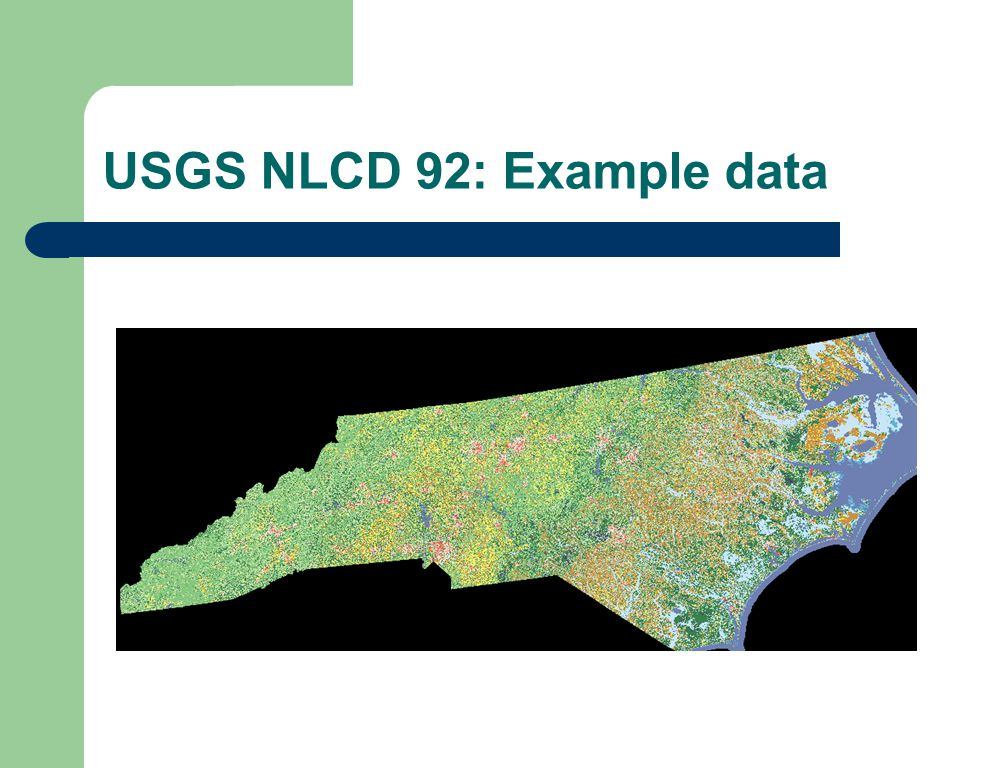 USGS NLCD 92: Example data