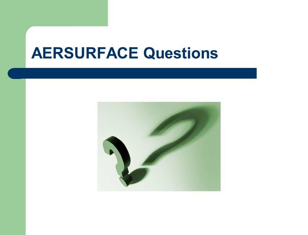 AERSURFACE Questions
