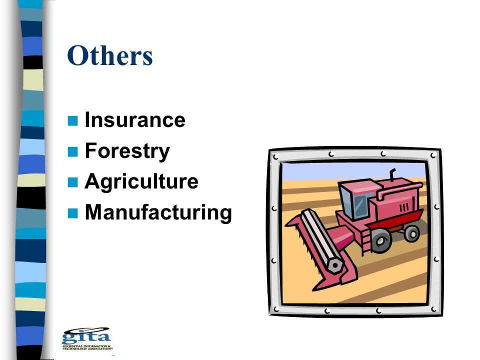 Others Insurance Forestry Agriculture Manufacturing