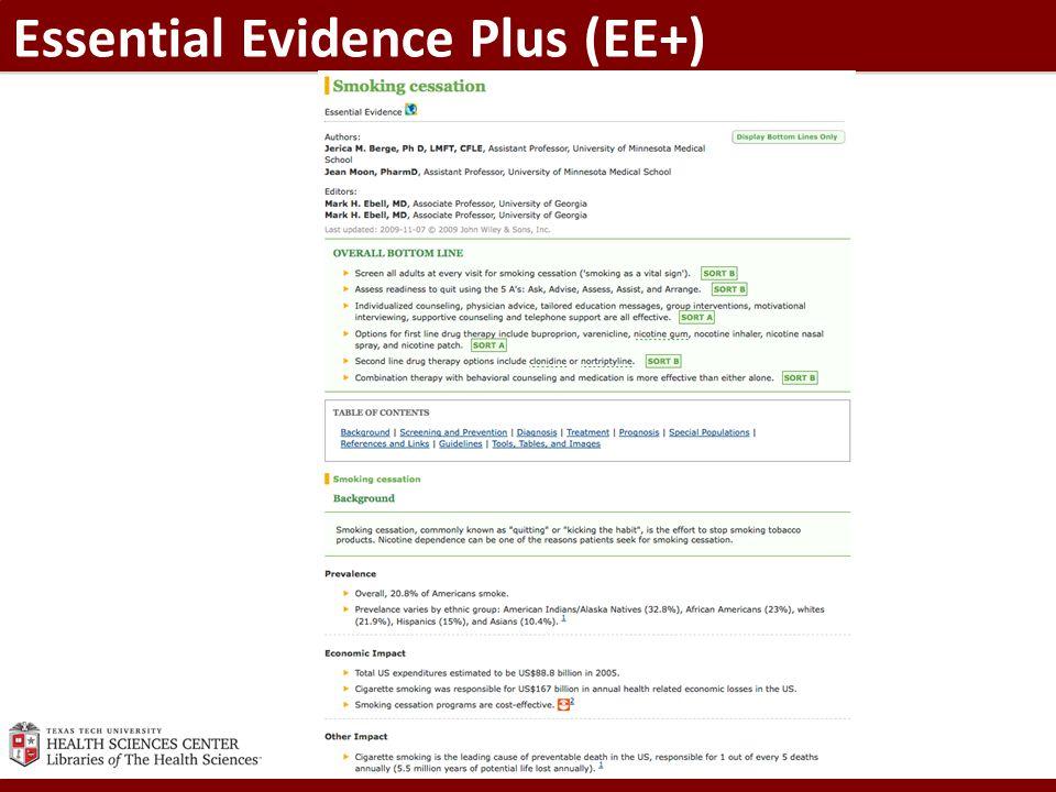 Essential Evidence Plus (EE+)