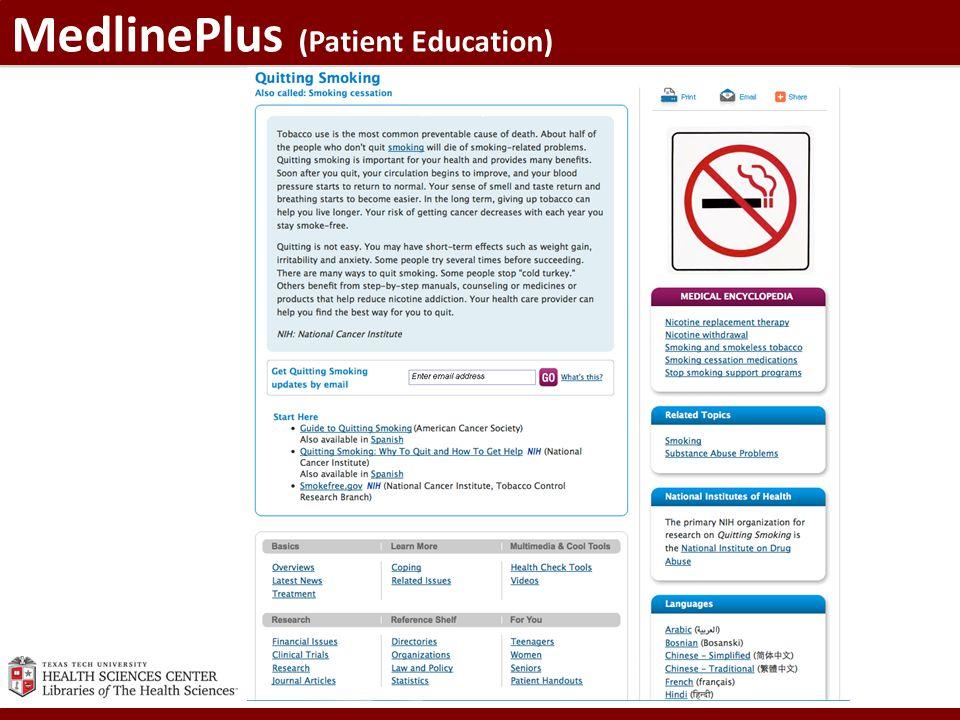 MedlinePlus (Patient Education)