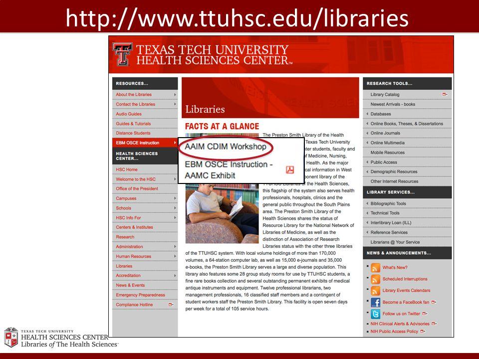 http://www.ttuhsc.edu/libraries