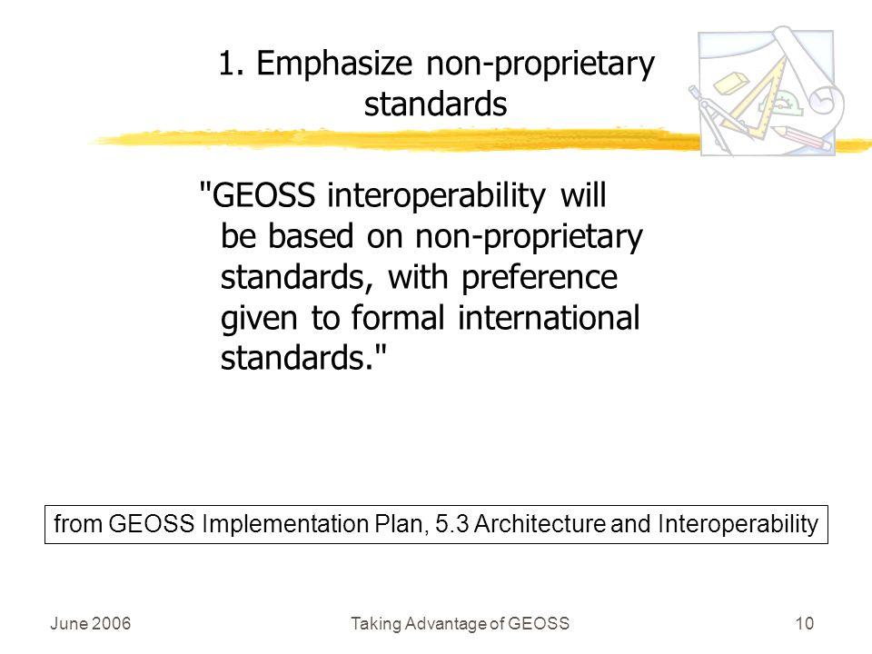 June 2006Taking Advantage of GEOSS10