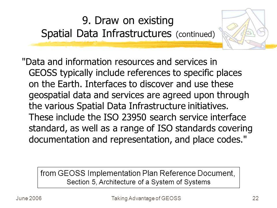 June 2006Taking Advantage of GEOSS22