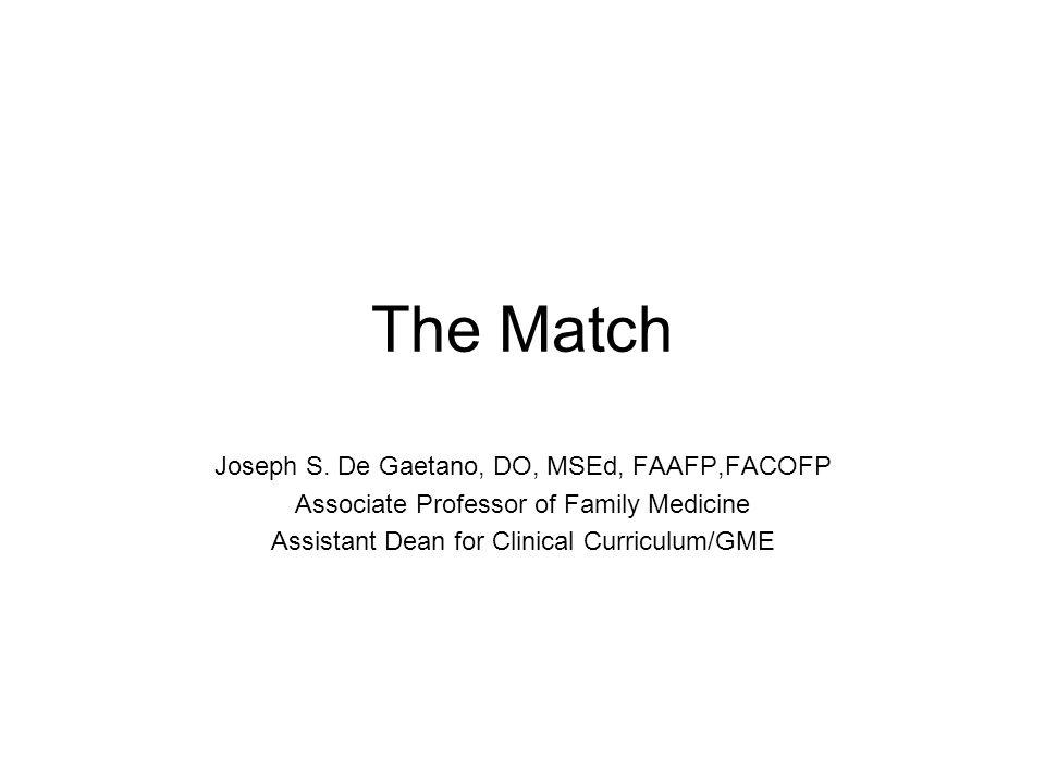 The Match Joseph S.