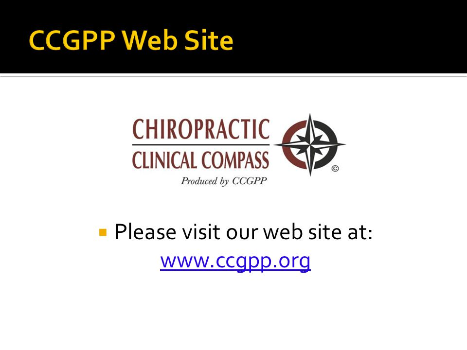  Please visit our web site at: www.ccgpp.org