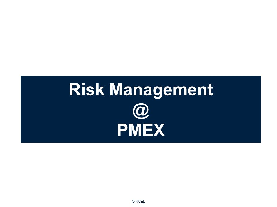 © NCEL Risk Management @ PMEX