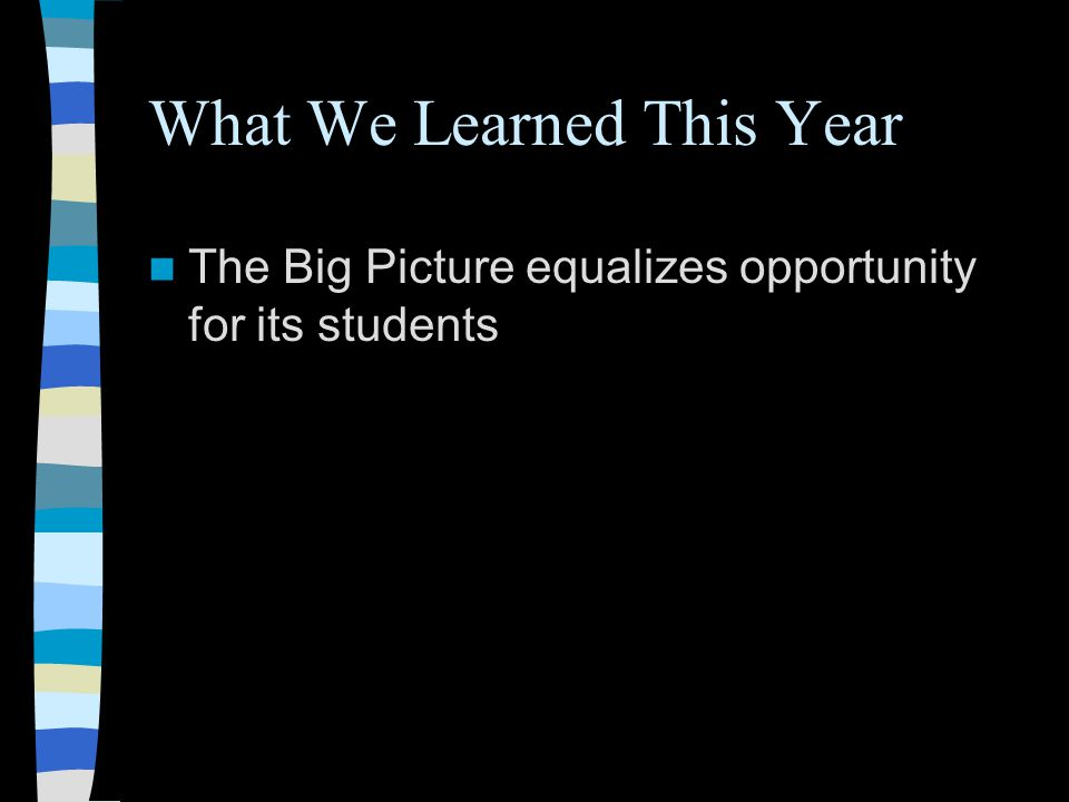 What We Learned This Year The Big Picture equalizes opportunity for its students