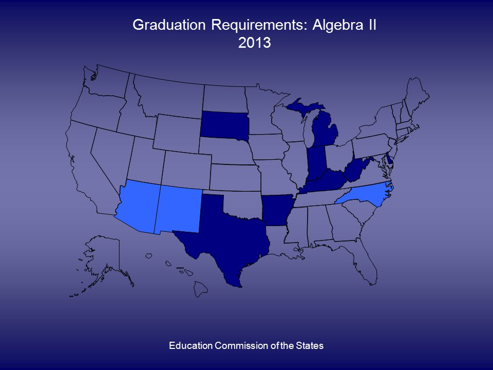 Education Commission of the States Graduation Requirements: Algebra II 2013
