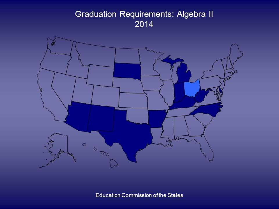 Education Commission of the States Graduation Requirements: Algebra II 2014