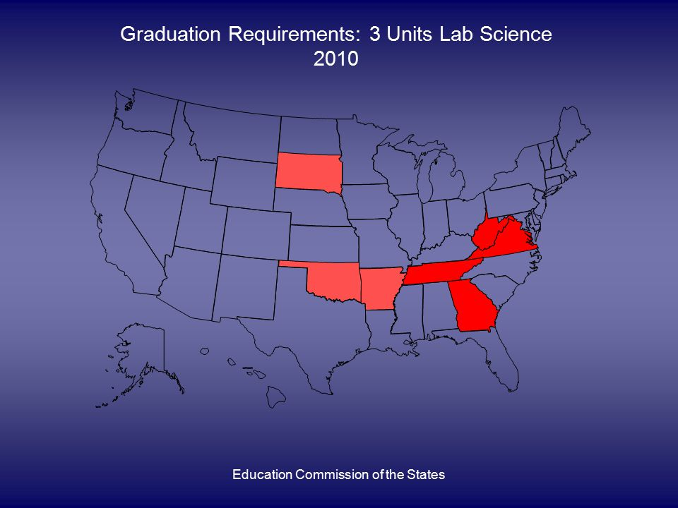 Education Commission of the States Graduation Requirements: 3 Units Lab Science 2010