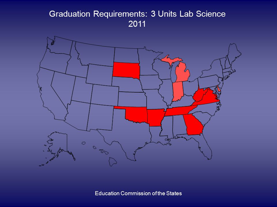 Education Commission of the States Graduation Requirements: 3 Units Lab Science 2011