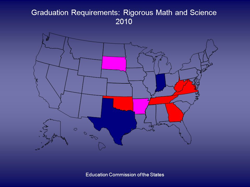 Education Commission of the States Graduation Requirements: Rigorous Math and Science 2010