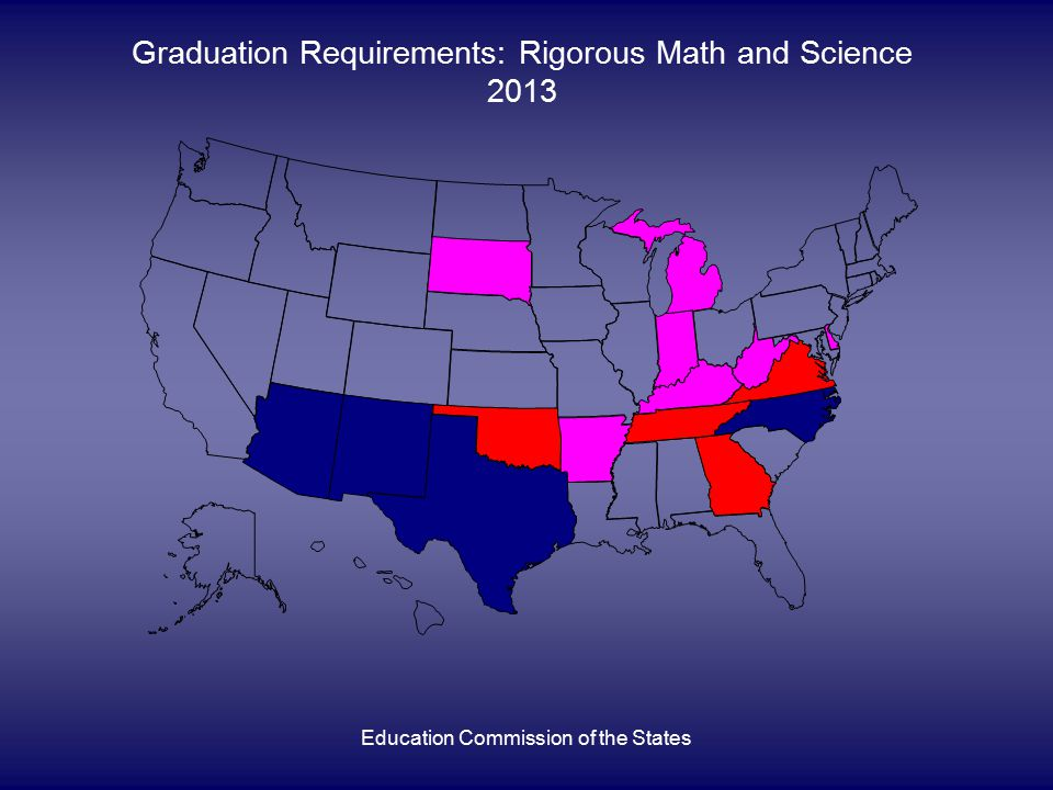 Education Commission of the States Graduation Requirements: Rigorous Math and Science 2013