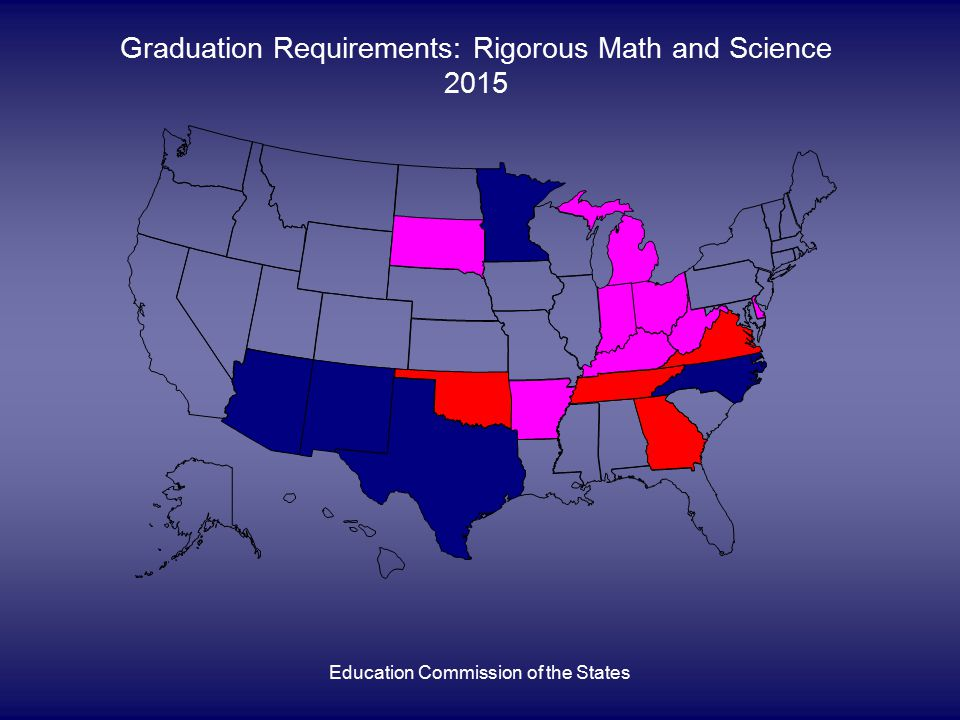 Education Commission of the States Graduation Requirements: Rigorous Math and Science 2015