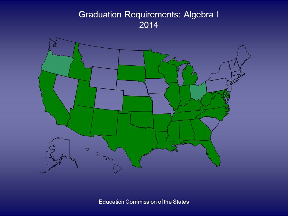 Education Commission of the States Graduation Requirements: Algebra I 2014