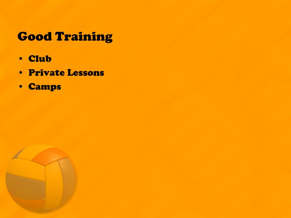 Good Training Club Private Lessons Camps