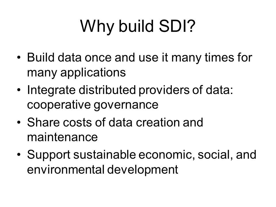 Why build SDI.