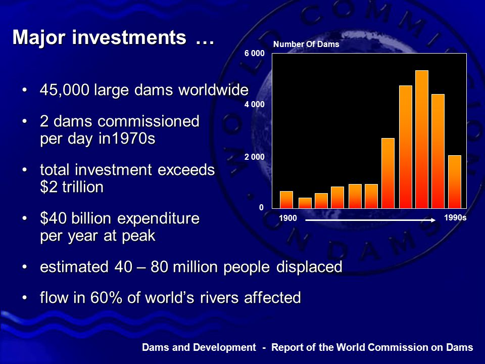 Dams and Development - Report of the World Commission on Dams we have told our story… …what happens next is up to you