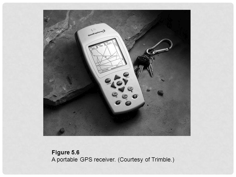 Figure 5.6 A portable GPS receiver. (Courtesy of Trimble.)