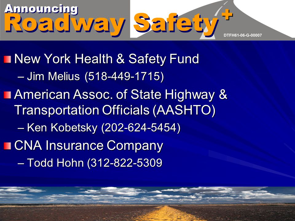 EPCRA/SARA Title III New York Health & Safety Fund –Jim Melius (518-449-1715) American Assoc.