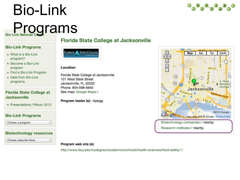 Bio-Link Programs