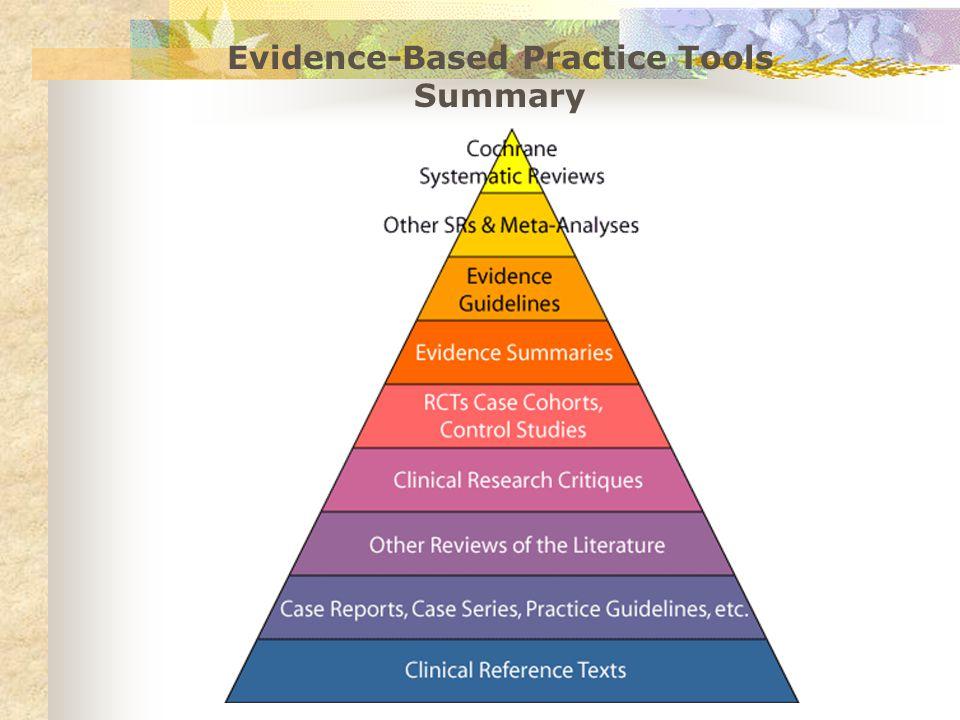 Evidence-Based Practice Tools Summary