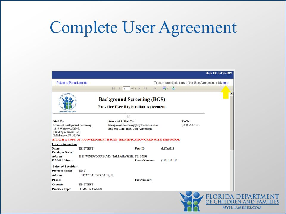 Complete User Agreement