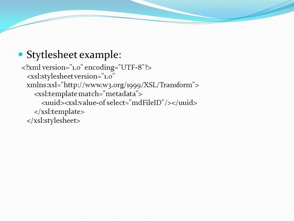 Stytlesheet example: