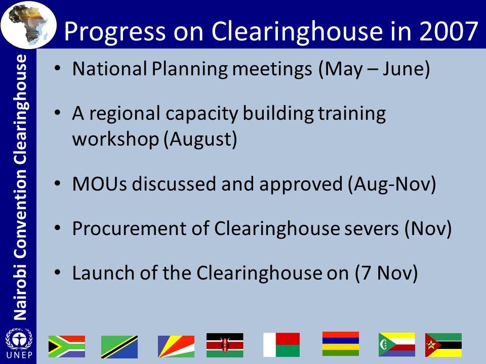 Nairobi Convention Clearinghouse Participants in the August training: Kenya, Tanzania, Mozambique, Madagascar, Comoros, Mauritius, Seychelles