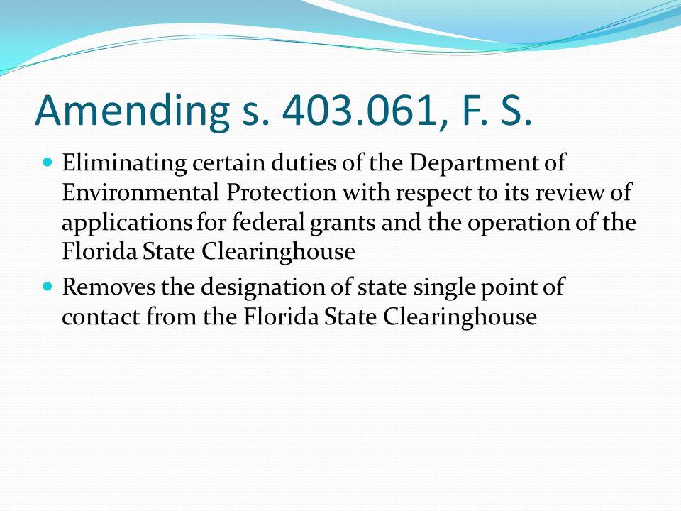 Amending s. 403.061, F. S.