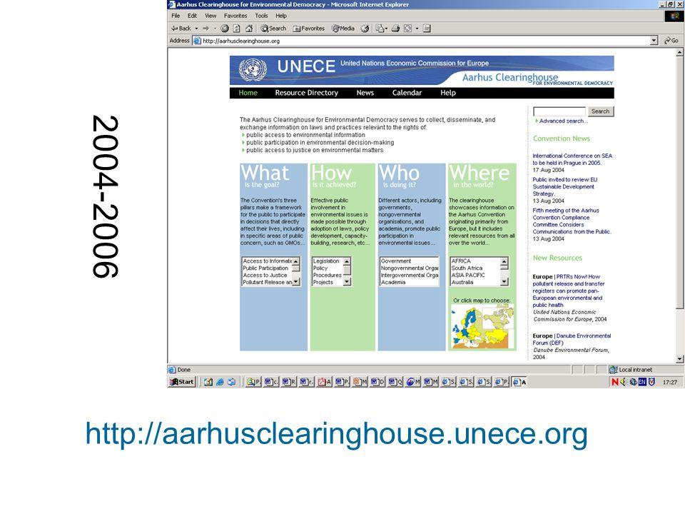 http://aarhusclearinghouse.unece.org 2004-2006