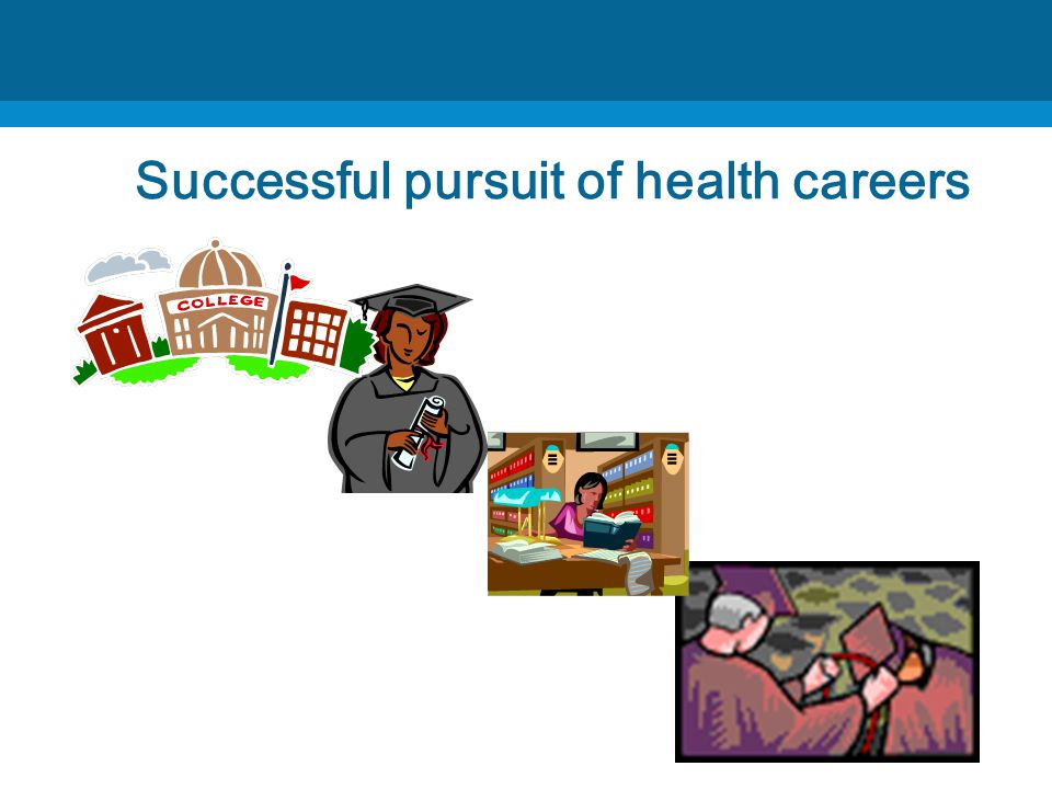 Successful pursuit of health careers