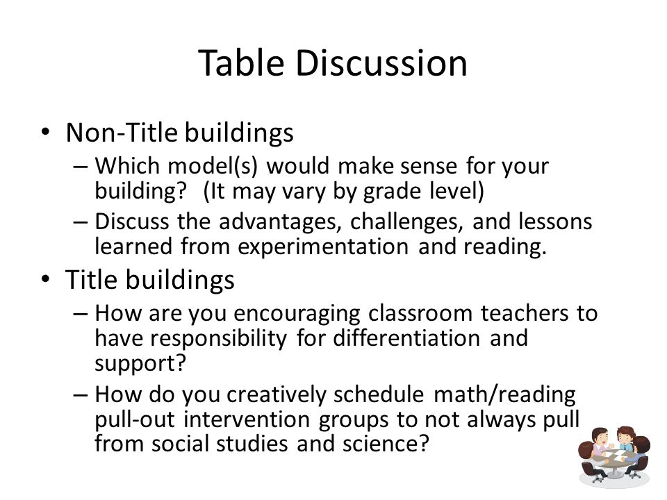 Table Discussion Non-Title buildings – Which model(s) would make sense for your building.