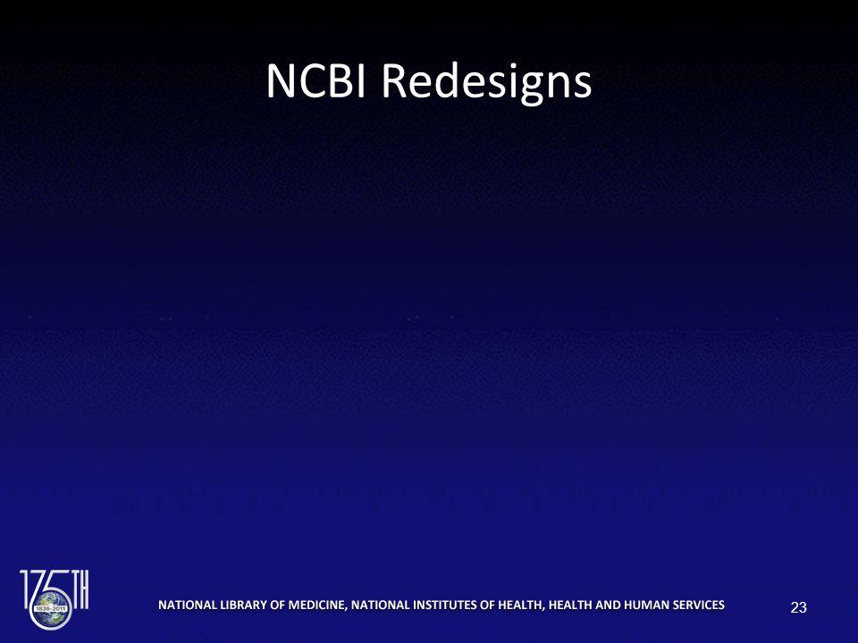 NCBI Redesigns 23