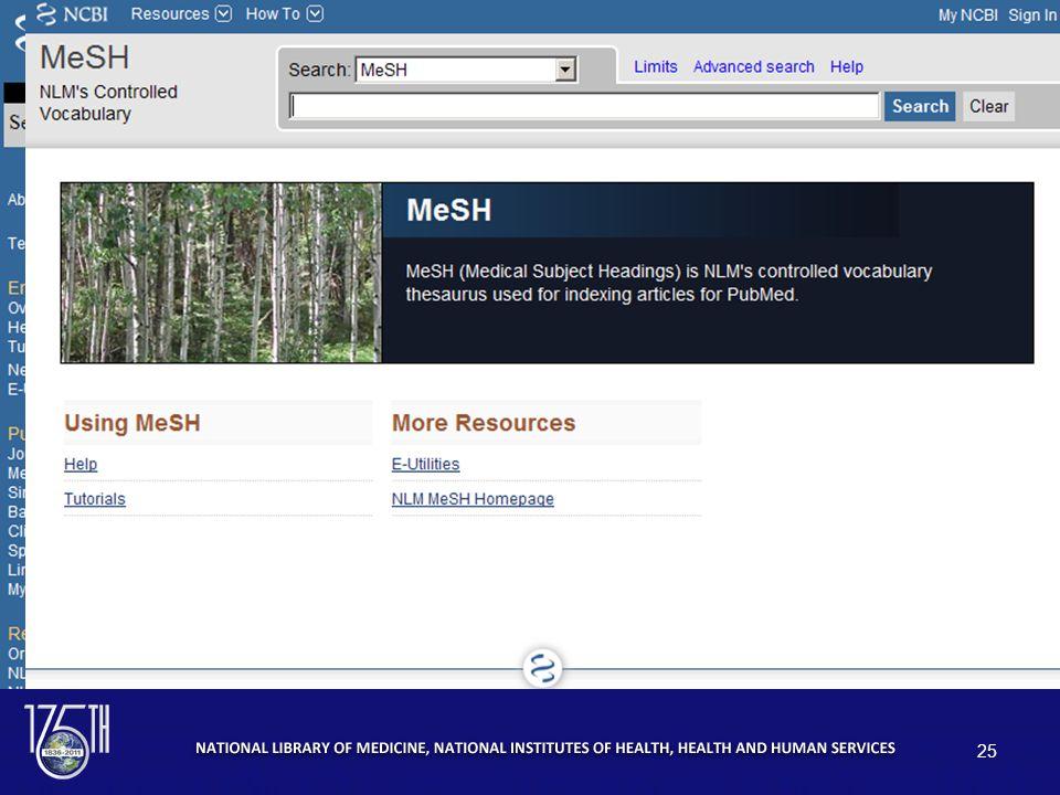 MeSH Database 25