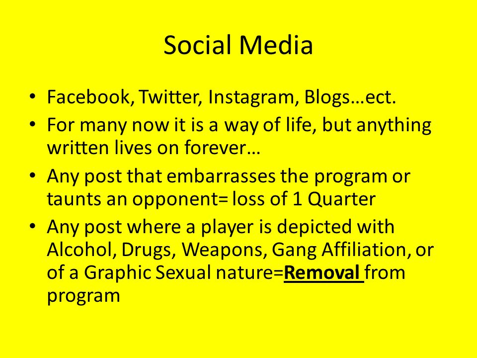 Social Media Facebook, Twitter, Instagram, Blogs…ect. For many now it is a way of life, but anything written lives on forever… Any post that embarrass