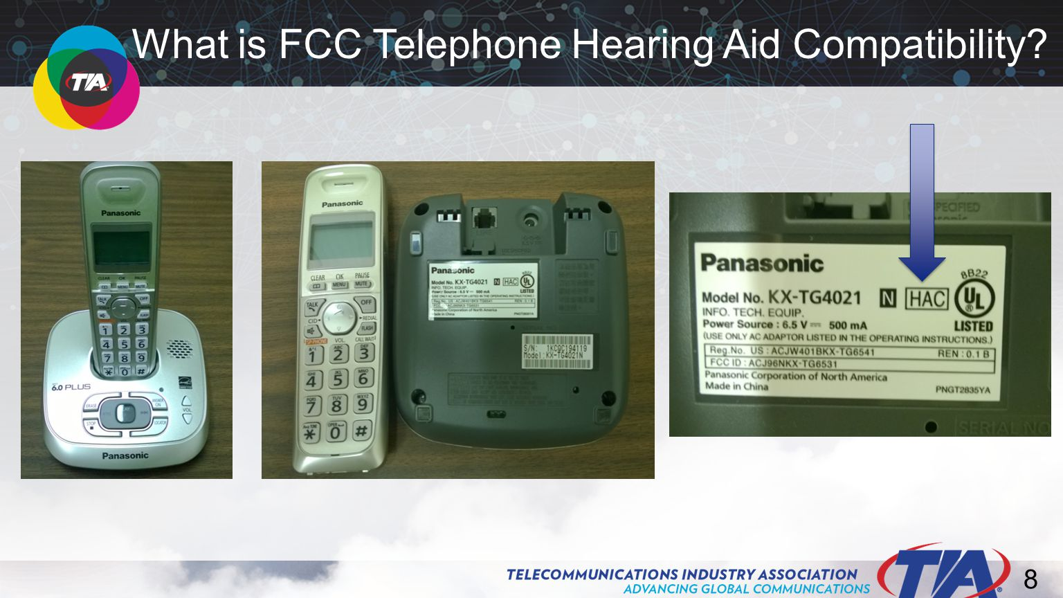 9 Improved performance for hearing aid users The telephone handset couples magnetically to a hearing aid's telecoil ( t-coil ).
