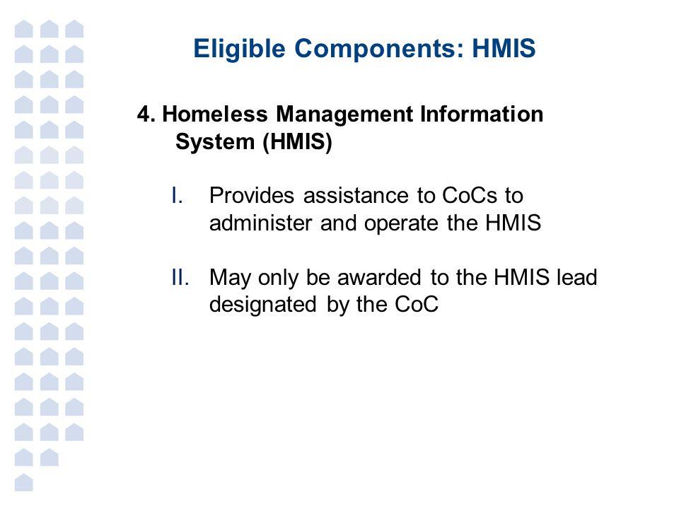 Eligible Components: HMIS 4.
